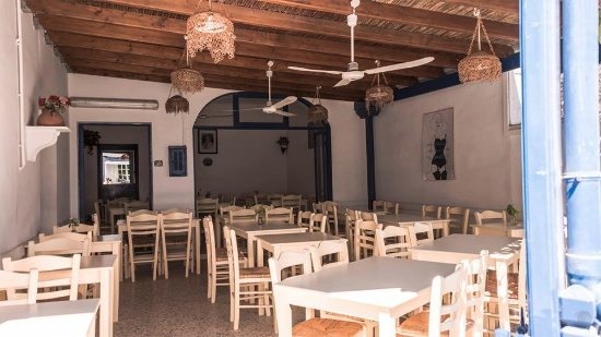 Serifos, Greece: Πιτσαρία - Εστιατόριο ΚΥΚΛΩΠΑΣ, Λιβάδι, Σέριφος