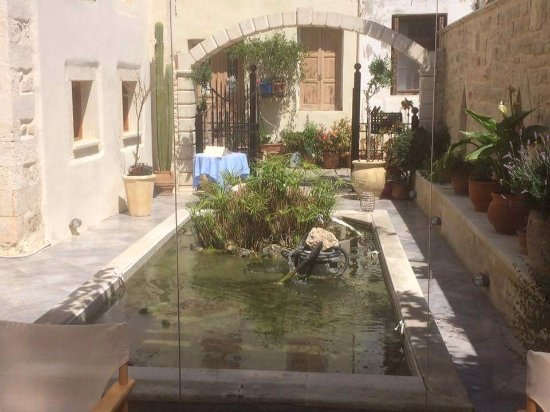 Casa Vitae Hotel: Courtyard and fish pond.
