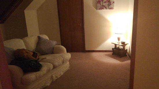 Woodlands Guest House: гостиная с телевизором напротив дивана