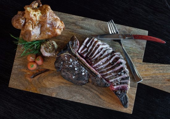 """Number 13: In house Dry-Aged Porterhouse perfect """"for two"""""""