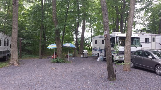 Paxinos, PA: Nice big camper areas for daily or seasonal rentals