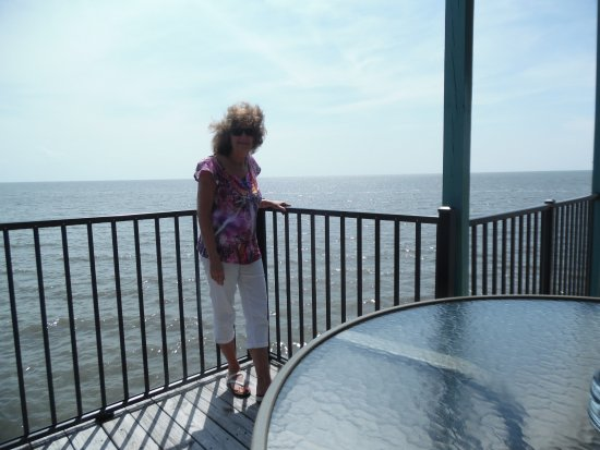Cedar Key Harbour Master Suites: From balcony at Harbour Suites 'Forget Me Not' room