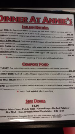 North Haven, CT: Dinner Menu - Italian Entrees, Comfort Food, Sides