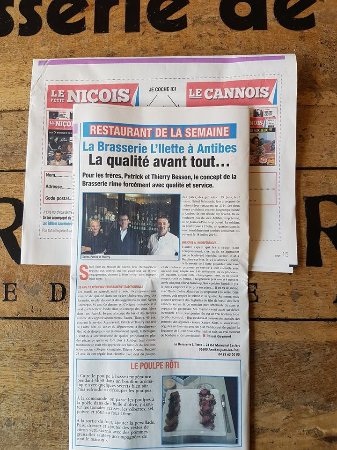 La Brasserie De LIlette Article Sur Le Journal Petit Nicois