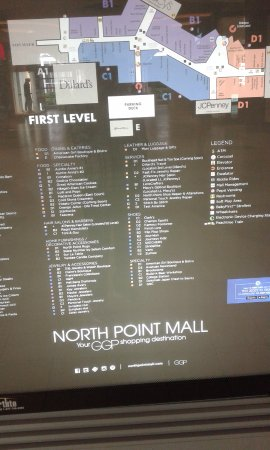 North Point Mall Map North Point Mall Map   Picture of North Point Mall, Alpharetta