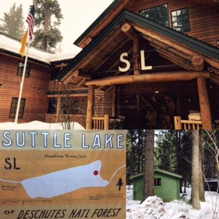 Sisters, OR: Main lodge and rustic cabin