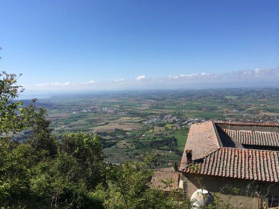 Villa Schiatti: view from our room