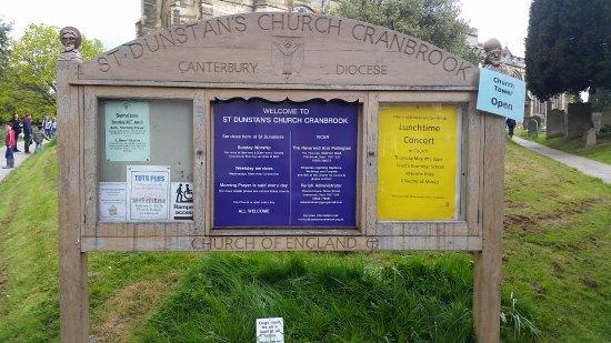 Cranbrook, UK: Signage