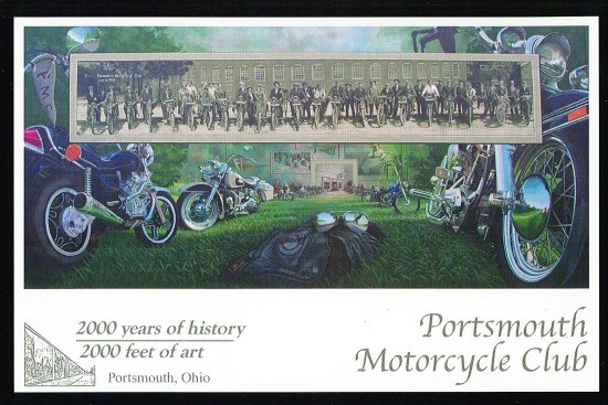 Mural of the Portsmouth Motorcycle Club