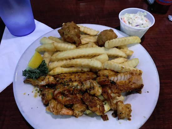 Junior's Seafood Restaurant & Grill: whiting and shrimp(?)