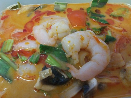 Nr 11 tom yam suppe med scampi inkl ris picture of for Anchalee thai cuisine