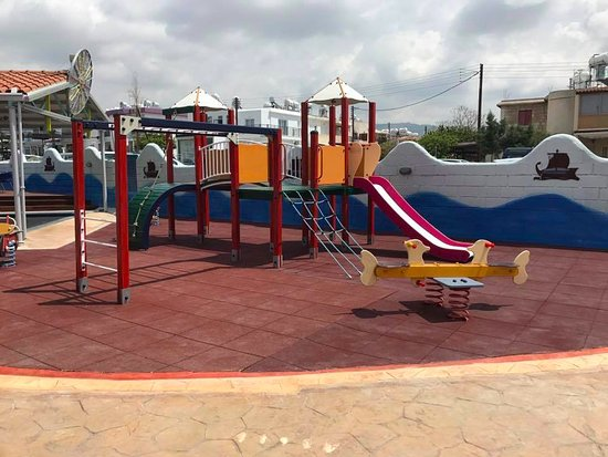 Peyia, Cyprus: Safe playground for all kids.
