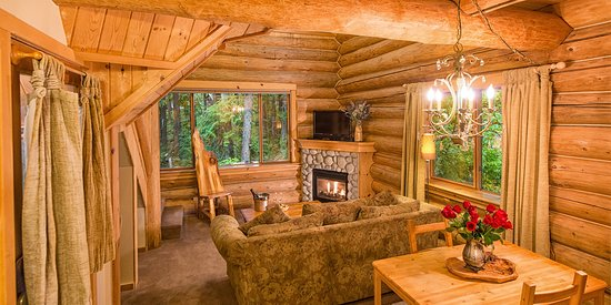 Crystal Mountain, WA: Honeymoon Cabin Living Room
