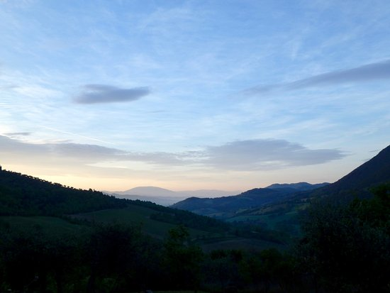 Pierantonio, Italy: sunrise from the terrace