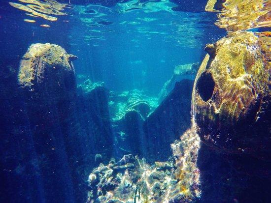 Bimini: inside the ship, taken with GoPro