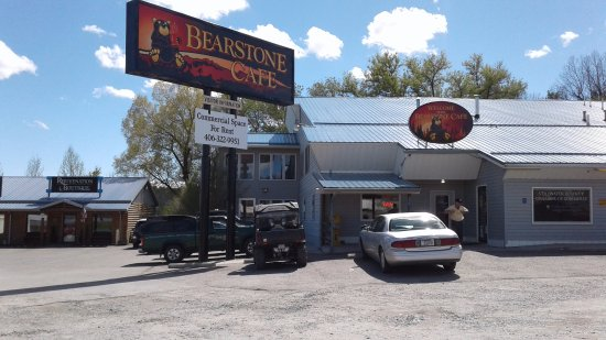 Κολόμπους, Μοντάνα: Bearstone Cafe restaurant front