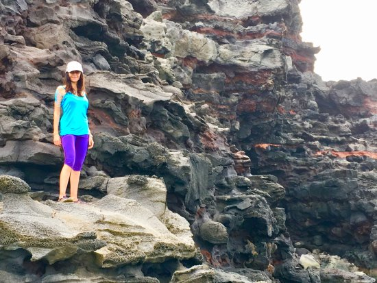 Haiku, HI: Lava rock zone from another planet! It even made her clothes glow! West Maui
