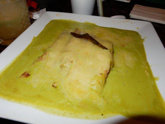 Zapata: delicious pablano chicken crepe