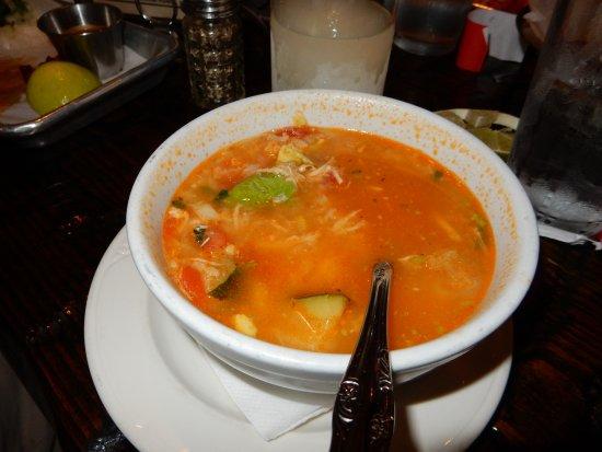 Zapata: delicious chicken veggie soup
