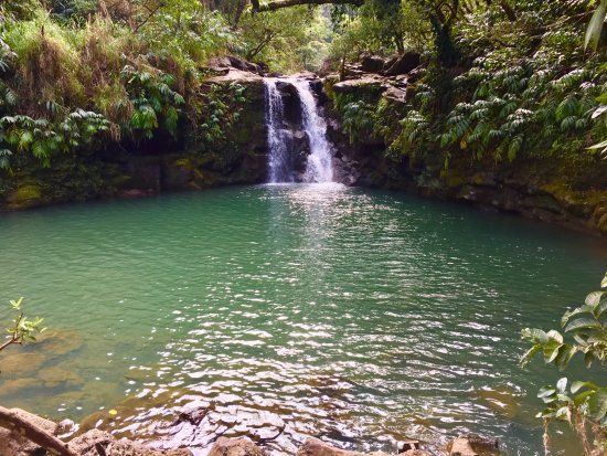 Haiku, HI: Waterfall pool to swim and jump in! Road to Hana
