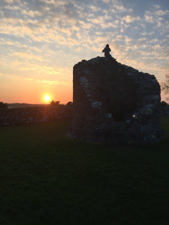 Comber, UK: The sunset at Nendrum