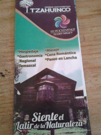 Tenango de las Flores, Mexico: folleto del lugar,,los servicios que ofrece son otorgados por un tercero, excepto hospedaje y co