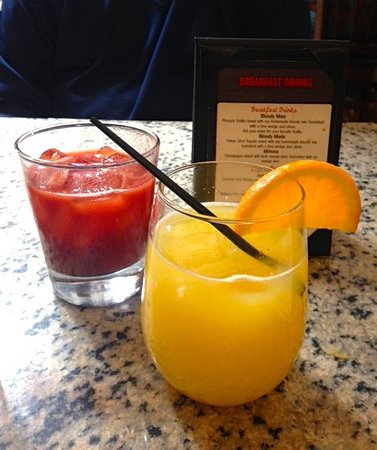 Milford, MA: Mimosa and tomato juice