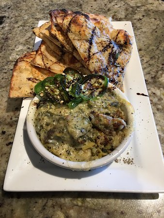 Housemade Artichoke Garlic Dip & Flatbread