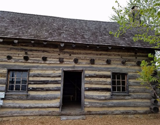 Dubuque, IA: 19th Century log structure on the museum campus