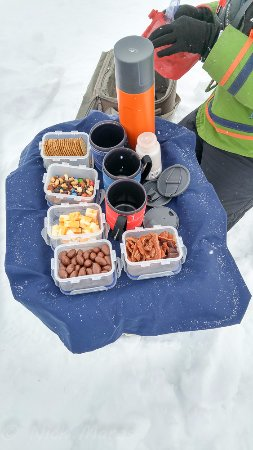 Iqaluit, Canada: table ready, but no vodka, only hot beverage :(