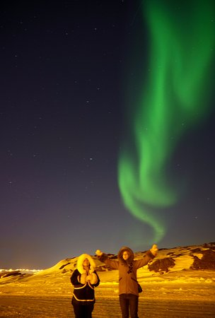 Iqaluit, Canada: beautiful aurora after we return to town