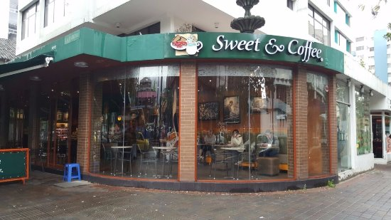 Sweet & Coffee: At the entrance.