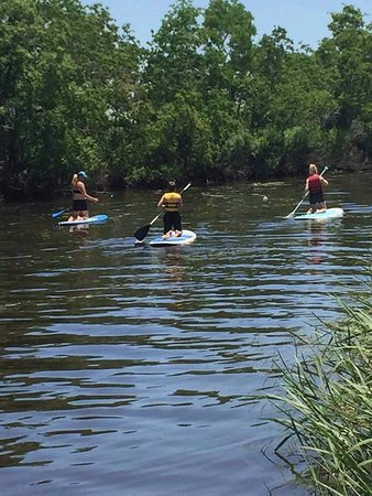 Hahnville, LA: Kids instruction in action in Norco, LA at the Wetland Watchers Park