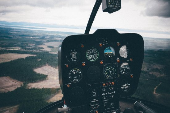 Campbell River, Canada: Inside the heli