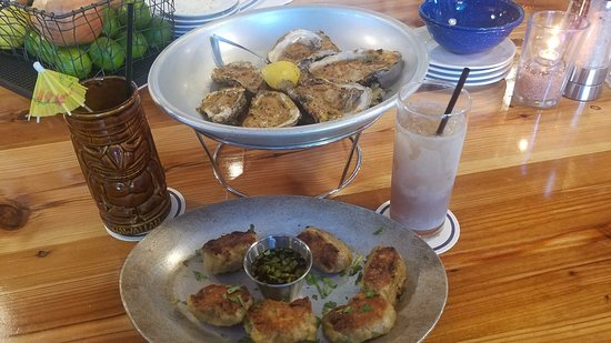 Round Rock, TX: Grilled Oysters and Pot Stickers