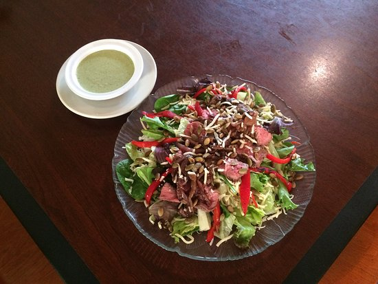 Fredericktown, MO: Our seasonal Southwest Steak Salad with Spinach Pepita Dressing.