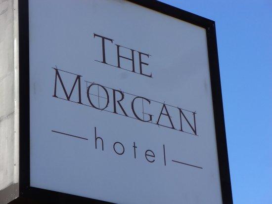 The Morgan at San Simeon: Front door sign