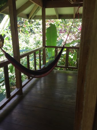 Samasati Retreat & Rainforest Sanctuary: One of the two hammocks on the bungalow porch