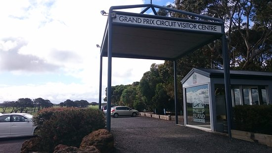 Ventnor, Australia: Entrance to the GP Circuit!