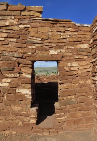 Wupatki National Monument : One of the doorways at the ruins.