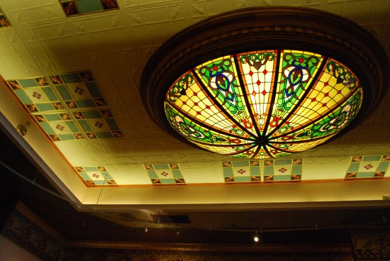 Mahogany Grille: The historic cieling