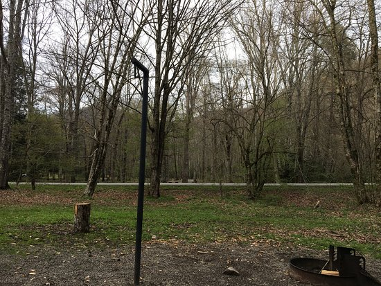 Standing Indian Campground: View from our site. No neighbors!