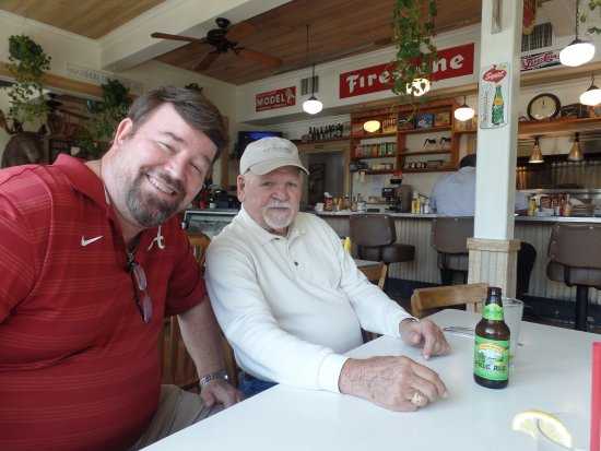 Hopland, CA: Jim and I in the dining area.
