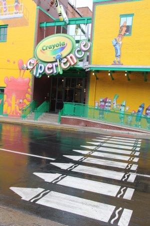 Crayola Experience: Creative crosswalk