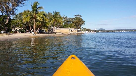 Noosa Backpackers Resort: the hostel has free kayaks