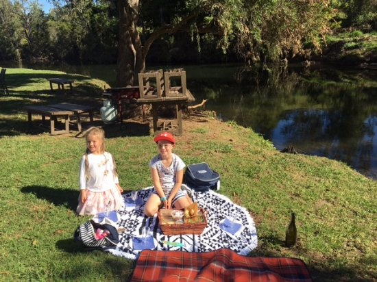 Canungra, Австралия: My kids were so excited to set up fr the picnic