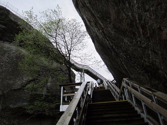 Chimney Rock, Caroline du Nord : stairs