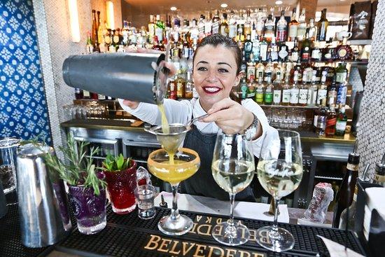 Premium range of cocktails, wines and beers