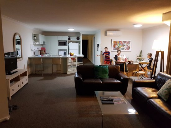 Osprey Apartments: The large living/dining/kitchen of room 04.