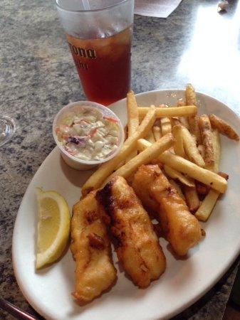 Longview, WA: Mushy halibut and chips.
